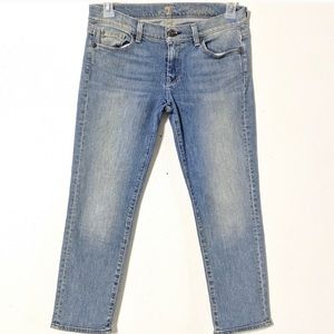 7 for all mankind crop jeans. 28